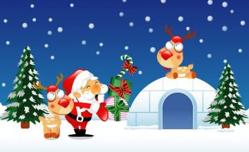 Merry Christmas Cartoon Wallpapers