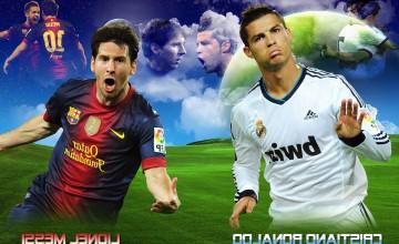 Messi and Ronaldo Wallpaper 2014