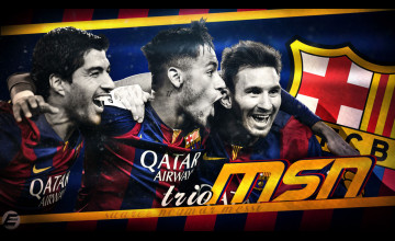 Messi Suarez Neymar Wallpaper
