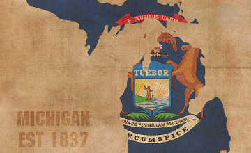 Michigan Map Wallpaper