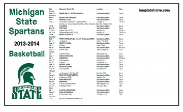 Michigan State Basketball Schedule Wallpaper
