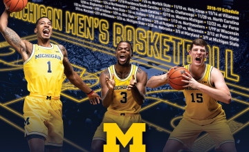 Michigan Wolverines Men's Basketball Wallpapers