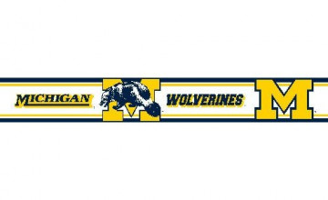 Michigan Wolverines Wallpaper Border
