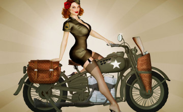 Military Pin Up Wallpaper