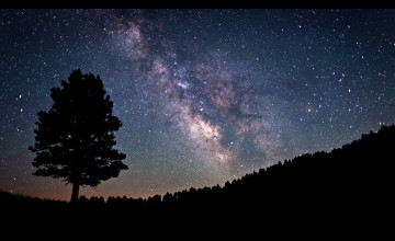 Milky Way from Earth Wallpaper