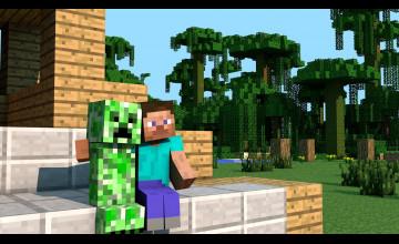 Minecraft Creeper Girl Wallpaper