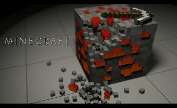 Minecraft Redstone Wallpaper