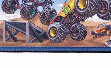 Monster Trucks Wallpaper Border