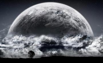 Moon Background Wallpaper