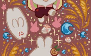 Moon Bunny Cookie Wallpapers