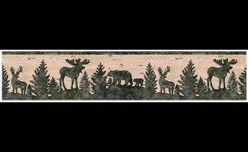 Moose in Bathtub Wallpaper Border