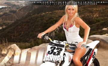Motocross Pin Up Girl Wallpapers