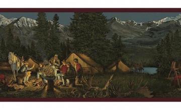 Mountain Scene Wallpaper Border