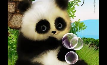 Moving Panda Wallpaper