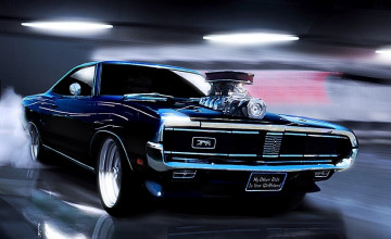 Muscle Cars Background Wallpaper