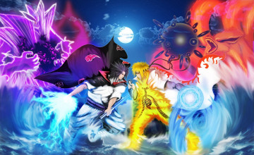 Naruto vs Sasuke HD Wallpaper
