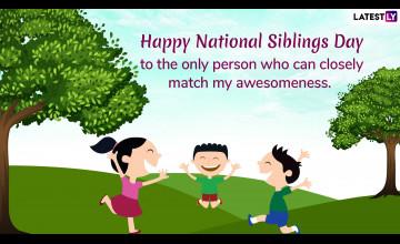 National Siblings Day Wallpapers