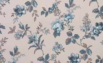 Navy Blue Floral Wallpaper