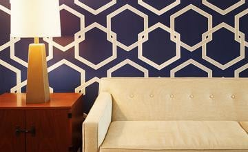 Navy Blue Removable Wallpaper