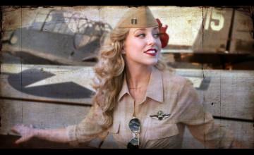 Navy Women Wallpaper