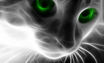 Neon Cat Wallpaper