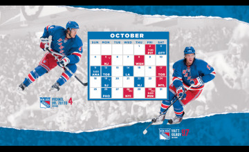 New York Rangers Schedule Wallpaper