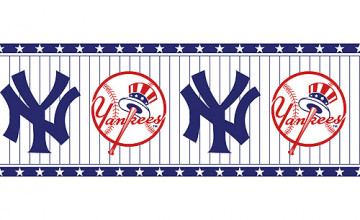 New York Yankees Wallpaper Border