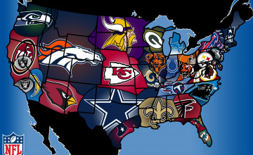 NFL Wallpaper Border All Teams