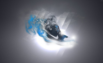 Nike Blue Smoke Wallpapers
