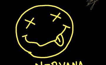 Nirvana Smiley Face Wallpaper