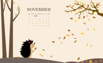 November 2019 Calendar Wallpapers