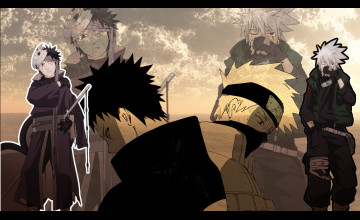 Obito vs Kakashi Wallpaper