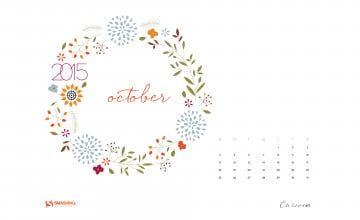 October 2015 Calendar Desktop Wallpaper