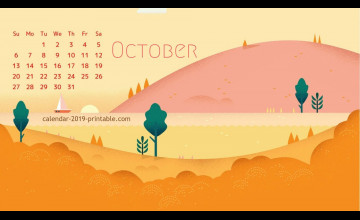 October 2019 Calendar Wallpapers