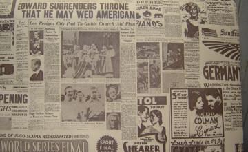 Old Newsprint Wallpaper