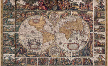 Old World Map Wallpaper Murals