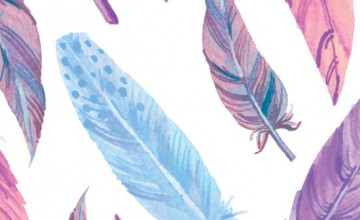 Ombre Feather Wallpaper