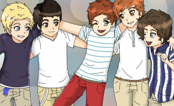 One Direction Cartoon Wallpapers