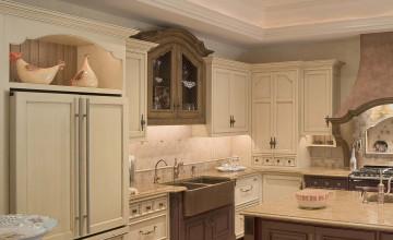 Open Kitchen Cabinet Wallpaper Backdrop