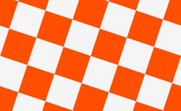 Orange and White Checkerboard Wallpaper
