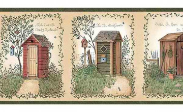 Outhouse Wallpaper Border