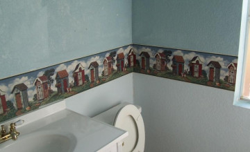 Outhouse Wallpaper Borders for Bathrooms
