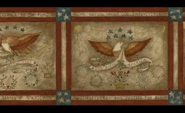 Patriotic Wallpaper Border Closeout