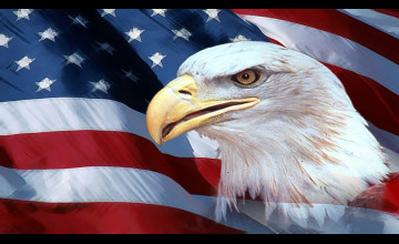 Patriotic Wallpaper USA Flag Eagle