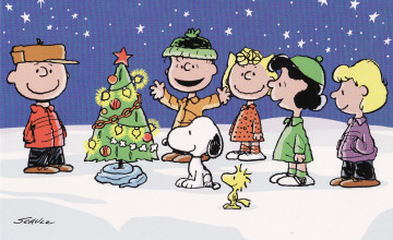 Peanuts Gang Christmas Wallpaper