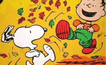 Peanuts Gang Fall Wallpaper