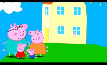 Peppa Pig House HD Wallpapers