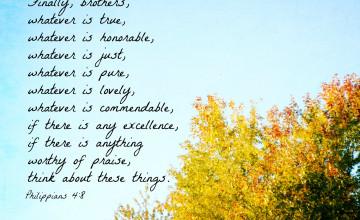 Philippians 4 8 iPhone Wallpaper