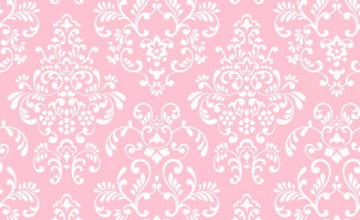 Pink and White Damask Wallpaper