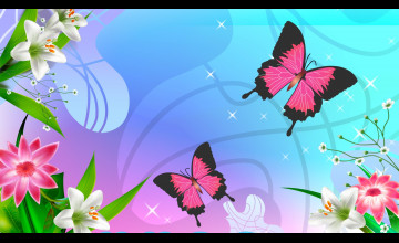 Pink Butterfly Wallpaper Desktop